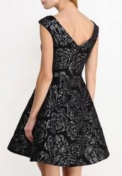 Блузка с узорам черный ворот concept club