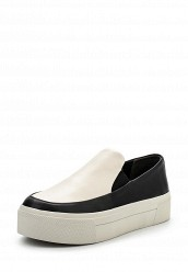 Купить Слипоны DKNY черно-белый DK001AWPVI05 Китай