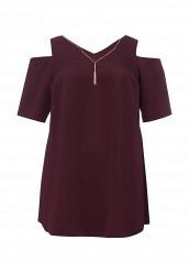 Купить Блуза Dorothy Perkins Curve бордовый DO029EWNUP33