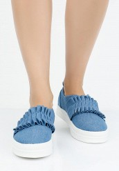 Слипоны LOST INKLANA PLEATED DETAIL SLIP ON PLIMSOLL