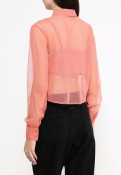 Блуза LOST INKTIE FRONT MESH SPOT SHIRT