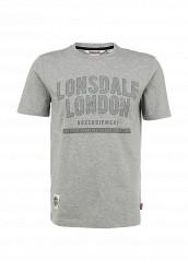 Купить Футболка Lonsdale серый LO789EMFJO99