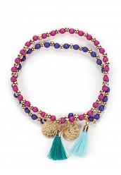 Купить Комплект браслетов 2 шт. Modis синий, фиолетовый MO044DWUZK39