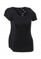 Купить Комплект футболок 3 шт. oodji черный OO001EWNUD40 Узбекистан