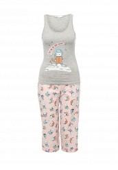Купить Пижама oodji розовый, серый OO001EWSGV83 Китай