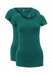 Купить Комплект футболок 2 шт. oodji зеленый OO001EWUPG23