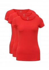 Купить Комплект футболок 3 шт. oodji красный OO001EWUPG28