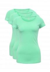 Купить Комплект футболок 3 шт. oodji зеленый OO001EWUPG32