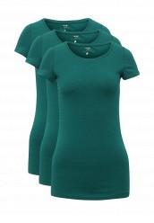 Купить Комплект футболок 3 шт. oodji зеленый OO001EWUPG35