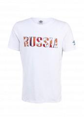 Купить Футболка спортивная Umbro RUSSIA FLAG LOGO TEE белый UM463EMAYH59 Китай