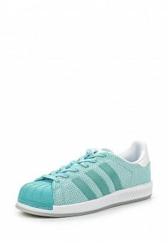 Кеды, adidas Originals, цвет: бирюзовый. Артикул: AD093AWQIT02. Женская обувь / Кроссовки и кеды
