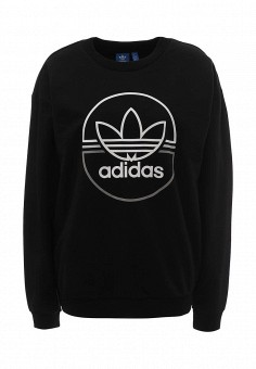 Свитшот, adidas Originals, цвет: черный. Артикул: AD093EWQIO61.