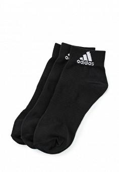 Комплект носков 3 пары, adidas Performance, цвет: черный. Артикул: AD094FUHFA23. Женская одежда / Носки, чулки и колготки