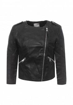Куртка кожаная, Alcott, цвет: черный. Артикул: AL006EWRAV50. Женская одежда / Верхняя одежда / Кожаные куртки