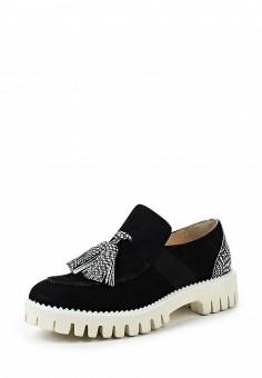 Лоферы, Alberto Guardiani, цвет: черный. Артикул: AL027AWOVV71. Премиум / Обувь / Туфли
