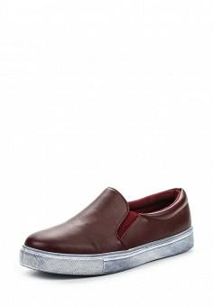 Слипоны, Angelo Milano, цвет: бордовый. Артикул: AN053AWPSU66. Женская обувь