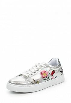 Кеды, Angelo Milano, цвет: серебряный. Артикул: AN053AWPSU76. Женская обувь