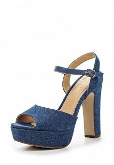 Босоножки, Arezzo, цвет: синий. Артикул: AR036AWQQX00. Женская обувь / Босоножки