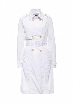 Плащ, Armani Exchange, цвет: белый. Артикул: AR037EWPWS16. Премиум / Одежда / Верхняя одежда / Плащи и тренчкоты