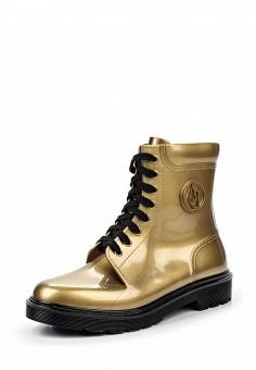 Резиновые ботинки, Armani Jeans, цвет: золотой. Артикул: AR411AWJSO64. Премиум / Обувь