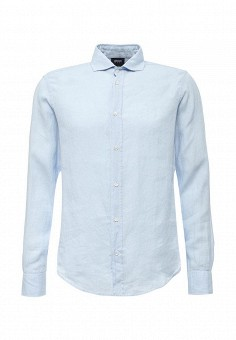 Рубашка, Armani Jeans, цвет: голубой. Артикул: AR411EMOVT15. Мужская одежда / Рубашки