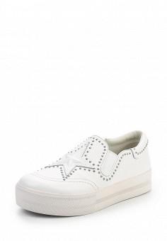 Слипоны, Ash, цвет: белый. Артикул: AS069AWQVZ67. Женская обувь