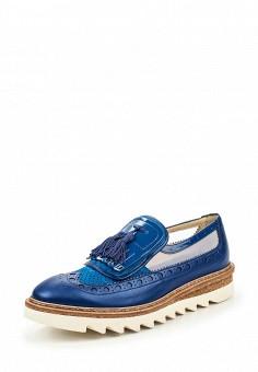 Лоферы, Barracuda, цвет: синий. Артикул: BA056AWPTD56. Премиум / Обувь / Туфли