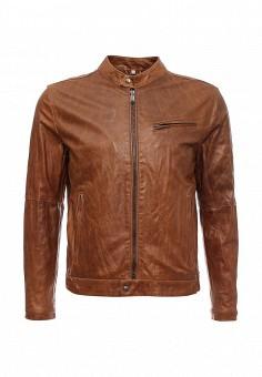Куртка кожаная, Bata, цвет: коричневый. Артикул: BA060EMKXA43. Мужская одежда / Верхняя одежда / Кожаные куртки