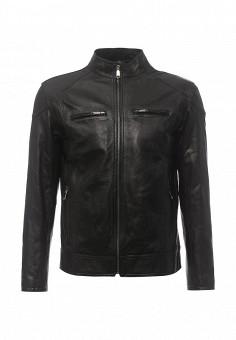 Куртка кожаная, Bata, цвет: черный. Артикул: BA060EMQDY29. Мужская одежда / Верхняя одежда / Кожаные куртки
