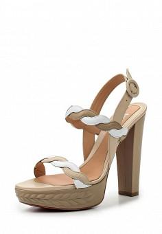 Босоножки, Baldinini, цвет: бежевый. Артикул: BA097AWPUX56. Женская обувь