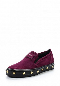 Слипоны, Baldinini, цвет: бордовый. Артикул: BA097AWTCB29. Женская обувь
