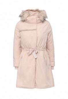 Пуховик, Befree, цвет: розовый. Артикул: BE031EWLBC46. Женская одежда / Верхняя одежда / Парки