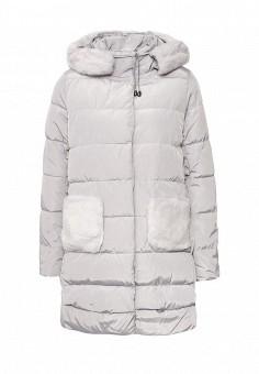 Куртка утепленная, Befree, цвет: серый. Артикул: BE031EWNDN71. Женская одежда / Верхняя одежда / Пуховики и зимние куртки