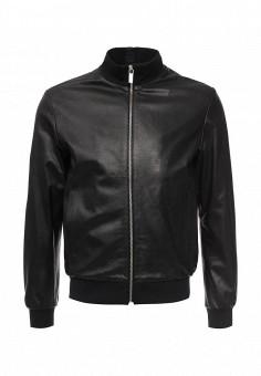 Куртка кожаная, Bikkembergs, цвет: черный. Артикул: BI535EMQAU73. Мужская одежда / Верхняя одежда / Кожаные куртки