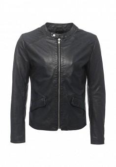 Куртка кожаная, Blouson, цвет: синий. Артикул: BL033EMQGN47. Мужская одежда / Верхняя одежда / Кожаные куртки