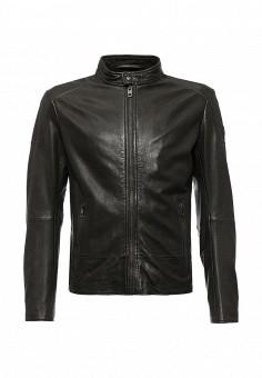 Куртка кожаная, Boss Orange, цвет: коричневый. Артикул: BO456EMJTO50. Мужская одежда / Верхняя одежда / Кожаные куртки