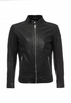 Куртка кожаная, Boss Orange, цвет: черный. Артикул: BO456EMMQL55. Мужская одежда / Верхняя одежда / Кожаные куртки