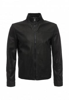 Куртка кожаная, Boss Green, цвет: черный. Артикул: BO984EMNOQ63. Мужская одежда / Верхняя одежда / Кожаные куртки