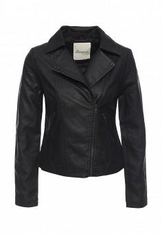 Куртка кожаная, Bruebeck, цвет: черный. Артикул: BR028EWOBG29. Женская одежда / Верхняя одежда / Кожаные куртки