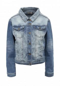 Куртка джинсовая, Bruebeck, цвет: синий. Артикул: BR028EWSQU50. Женская одежда / Тренды сезона / Летний деним / Джинсовые куртки