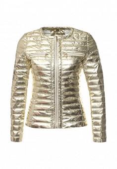 Куртка утепленная, B.Style, цвет: золотой. Артикул: BS002EWQVN72. Женская одежда / Верхняя одежда / Демисезонные куртки