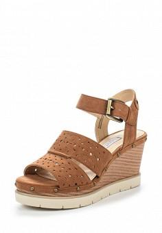 Босоножки, Bugatti, цвет: коричневый. Артикул: BU182AWOKP31. Женская обувь / Босоножки