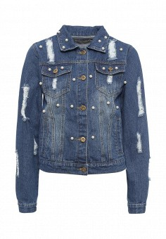 Куртка джинсовая, By Swan, цвет: синий. Артикул: BY004EWRPM69. Женская одежда / Тренды сезона / Летний деним / Джинсовые куртки