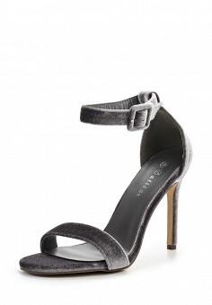 Босоножки, Catisa, цвет: серый. Артикул: CA072AWTFO50. Женская обувь / Босоножки