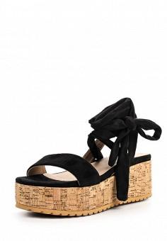 Босоножки, Catisa, цвет: черный. Артикул: CA072AWTFO71. Женская обувь / Босоножки