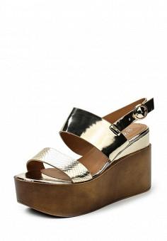 Босоножки, Catisa, цвет: золотой. Артикул: CA072AWTFP98. Женская обувь / Босоножки