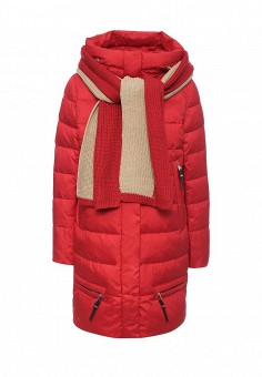Куртка утепленная, Clasna, цвет: красный. Артикул: CL016EWNLS25. Женская одежда / Верхняя одежда / Пуховики и зимние куртки