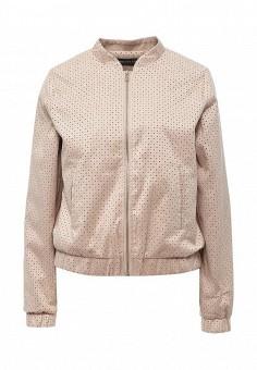 Куртка кожаная, Concept Club, цвет: бежевый. Артикул: CO037EWSUI37. Женская одежда / Верхняя одежда / Кожаные куртки