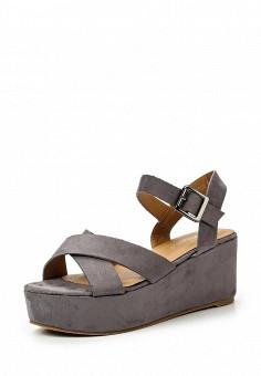 Босоножки, Coco Perla, цвет: серый. Артикул: CO039AWTDU52. Женская обувь / Босоножки