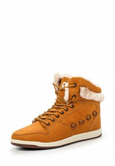 Кеды, Crosby, цвет: коричневый. Артикул: CR004AWKDW29. Женская обувь / Кроссовки и кеды / Кроссовки